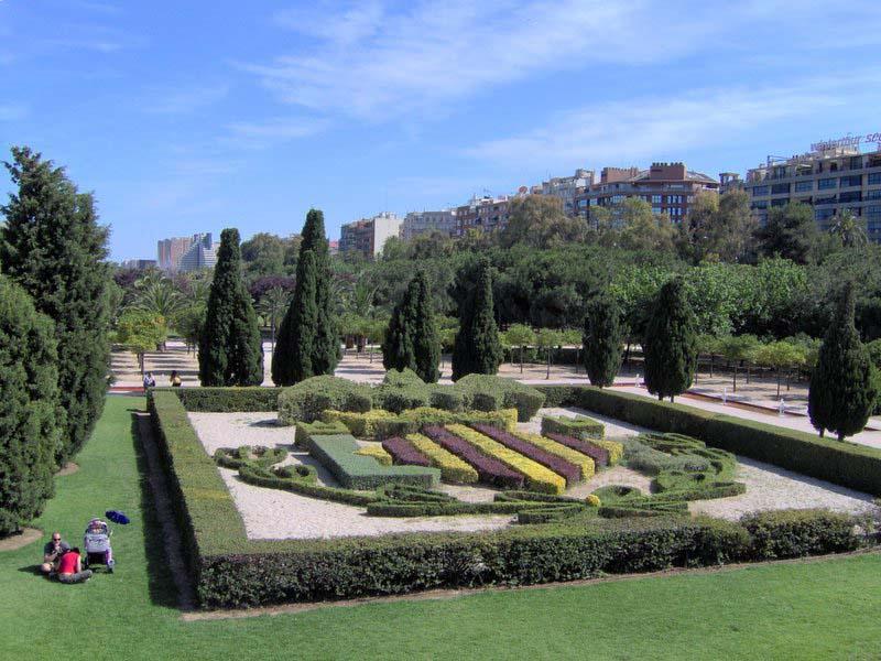Los jardines del Rio Turia.