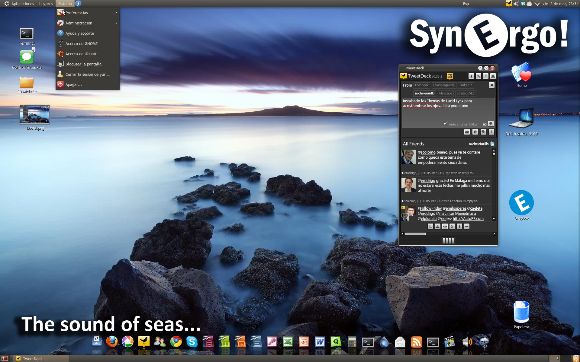 Nuevo Desktop del Mes de Marzo.. y nuevo Tema