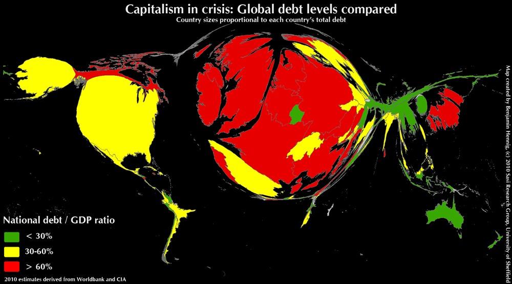 El Mapa Mundial de la deuda…