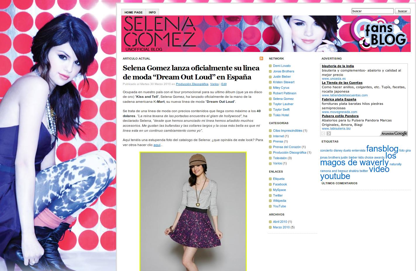 Clientes: lanzamiento de Fansblog en España