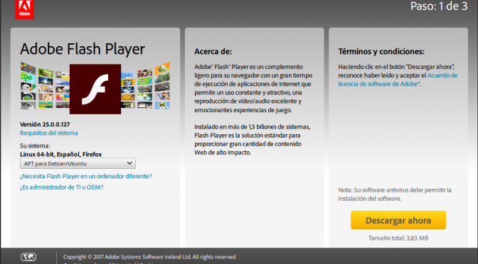 Como obtener upgrade Adobe Flash 25.0.0.127 con Mint